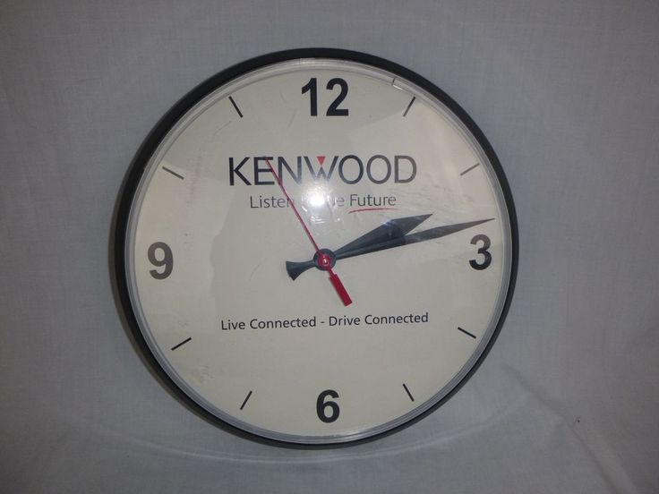 Kenwood Car Audio Stereo Advertising Wall Clock Made in USA