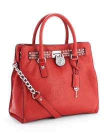 MICHAEL Michael Kors Large Hamilton Rock N' Roll Tote, Red