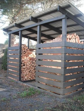 Woodshed for winter wood. - Gardening Inspire - Gardening Prof