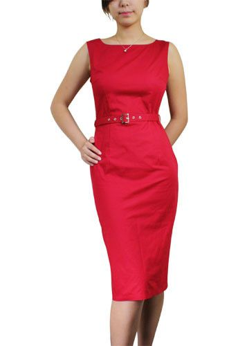 Coming Soon! Red Pencil Dress by Chic Star