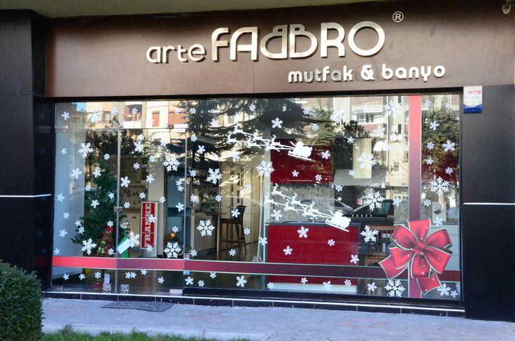 #Vitrin #showroom #store #sticker #snow #happy #new #year
