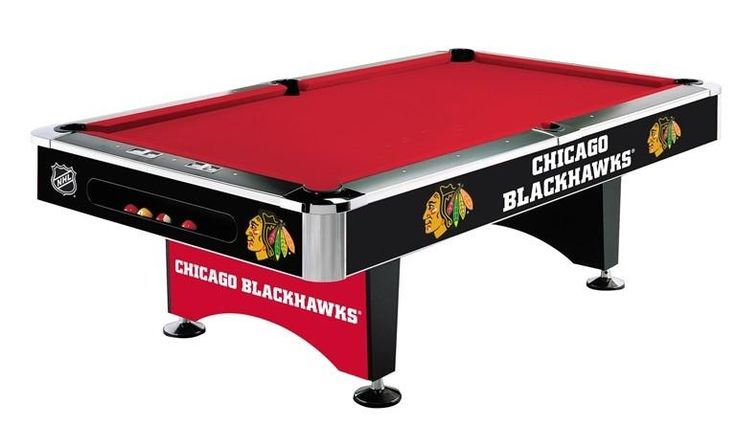 Chicago Blackhawks 8ft Pool Table