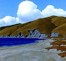 Brent Wong Coastal Hills, Dunes and Clouds