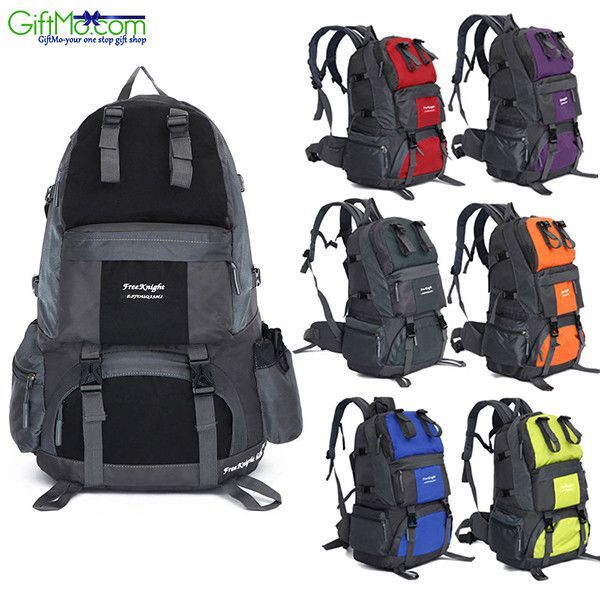 Outdoor Backpack Hiking Waterproof Pack Mountaineering Bag Introductions: Keep your gear and food ready for anything with the Free Knight 50L FK0218 Outdoor Waterproof Nylon Hiking Camping Backpack! I http://campingtentlovers.com/beginners-camping-guide/