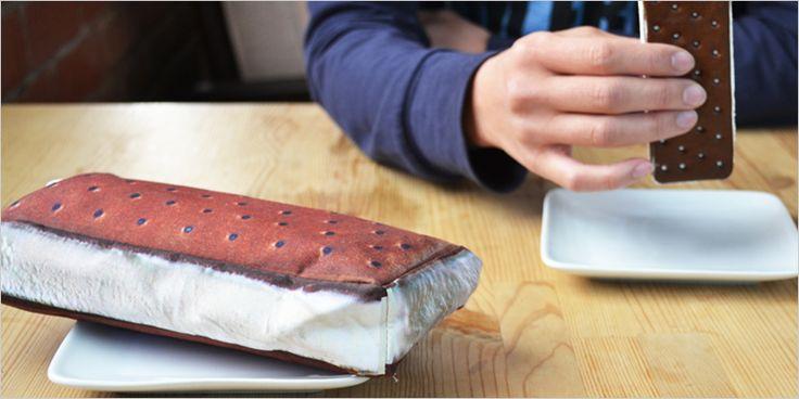 アイスクリームサンドの小物入れ 【ヤミーポケットシリーズ アイスクリームサンドイッチ 小物入れ ペンケース ミニポーチ アクセサリー】