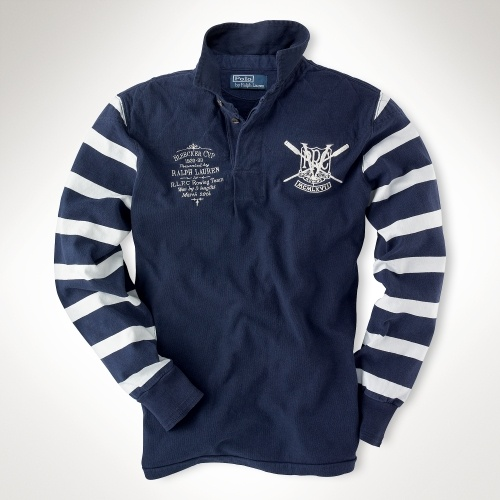 Ralph Lauren Rowing Rugby Shirt. CAN WE MAKE THESE FOR THE TEAM?! ... but as sweaters maybe.  @jen S.