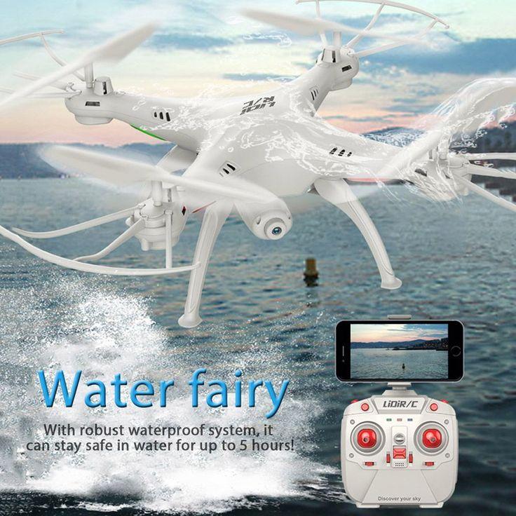 Lidirc l15fw rc drony fpv wifi 2.4 ghz 4ch 6 axis gyro wodoodporna Tryb Bezgłowy Quadcopter RC Helikopter z Kamerą VS MJX X101