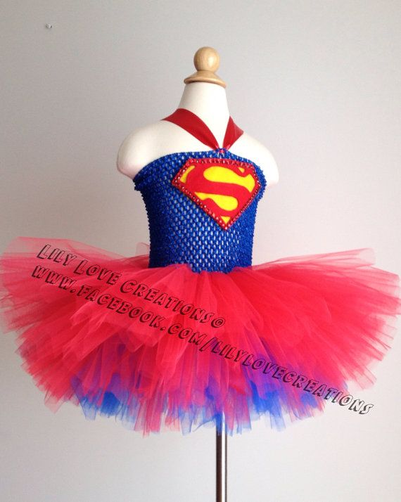 Superman Tutu dress - Superhero costume - Superman Costume - Superhero - Birthday outfit - Super girl This dress has EXTRA layers of tulle to
