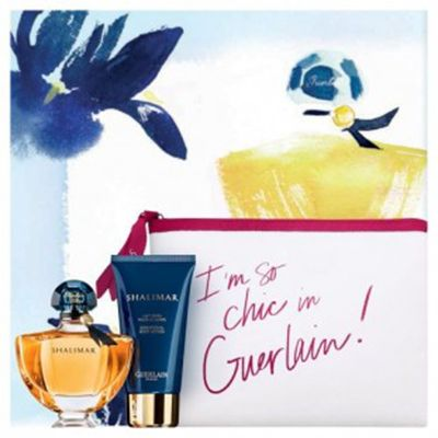 Coffret #Shalimar Eau de Parfum  #Parfum #guerlain  Ce Coffret est composé de : vaporisateur 50ml+ Lait corps 75ml+ trousse