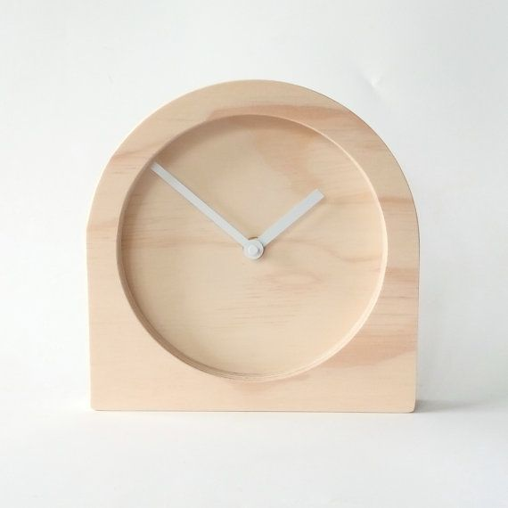 These desk clocks are made from sustainably produced Radiata Pine plywood. I can also print any design/pattern/numerals/markings directly on