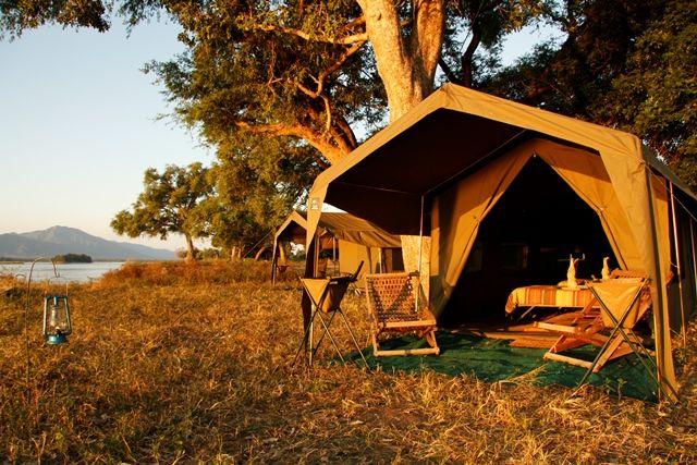 Mana Pools Tented Camp - A wonderful private, tented safari camp experience in Mana Pools National Park.  #zimbabwe #africansafari #travelafrica #manapools