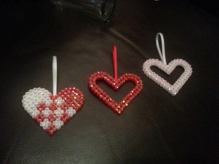 Hama beads with rhinestones  Bolleboll Design Stine Fagerhaug  http://epla.no/shops/bollaboll/