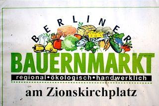Der kleine aber feine Ökomarkt am Zionskirchplatz präsentiert sich mit ausgewählten Produkten und freundlichen Markthändler_Innen jeden Donnerstag direkt vor der Zionskirche in Berlin-Mitte. Das Angebot besteht aus Bio-Obst und Bio-Gemüse, Fisch, Bio-Käse (Berliner Käsehandel), Crepes, Kaffeespezialitäten (Le Petit Café), mediteraner Feinkost, Fleisch- und Wurstwaren sowie erstklassiger Falafel. Thu 11am- 6.30pm