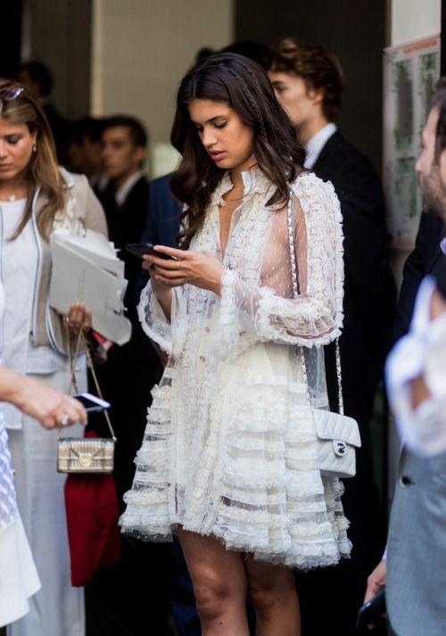 Elegant white dress.