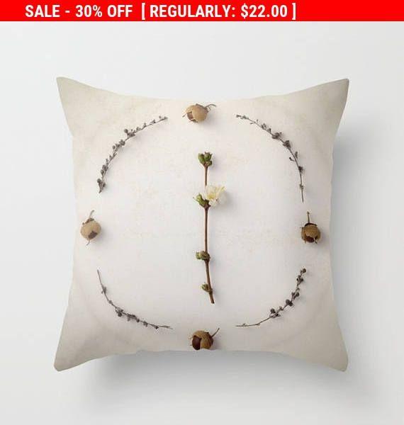 SALE  Flower Pillow Decorative Pillow Cases Toss Pillow