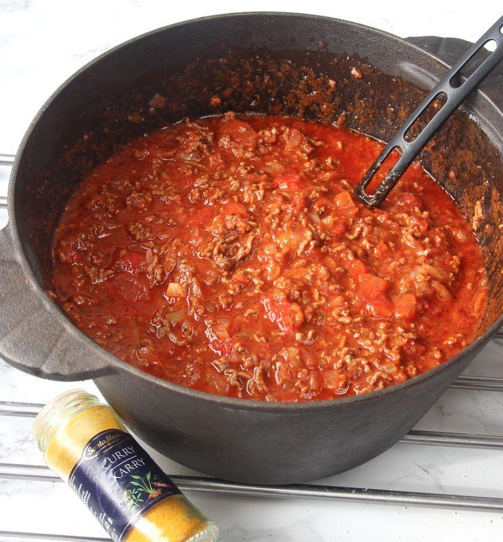 Curryköttfärssås
