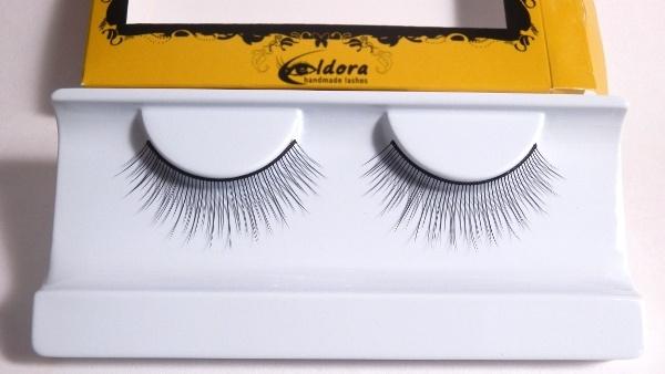 Ciglia finte sottili effetto naturale lunghe B124 Eldora lashes
