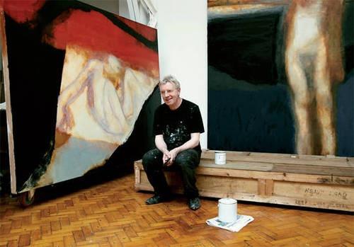 Hughie O'Donoghue in his studio.