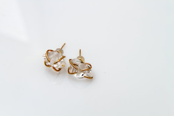 Large Audrey Studs in Recycled Gold - Meet the Audrey studs, one of the three pieces in our signature collection. As classic, timeless, and glamourous as the Leading Lady, but updated for the modern woman.