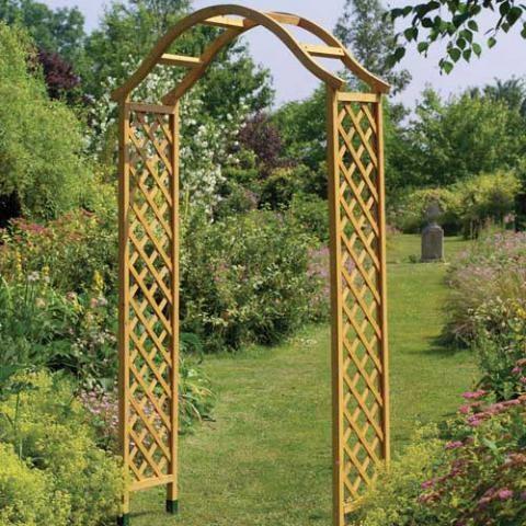 Gardman Elegance Wooden Arch - Tan Picture £45 218 x 114 x 40cm