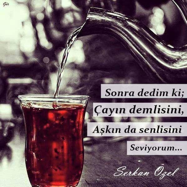 Sonra dedim ki; Çayın demlisini, Aşkın da senlisini Seviyorum...  - Serkan Özel