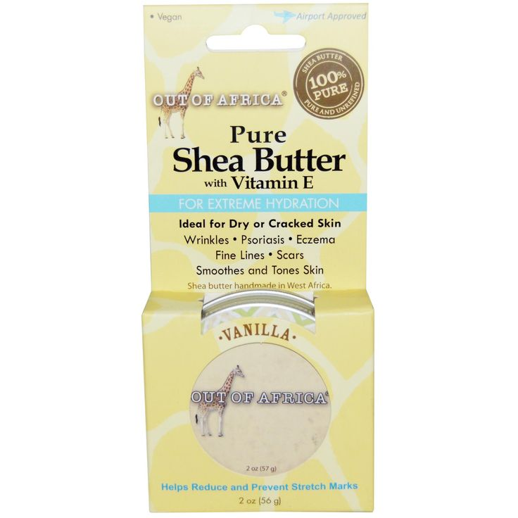 Out of Africa, Pure ,Shea Butter with Vitamin E, Vanilla, 2 oz (56 g)