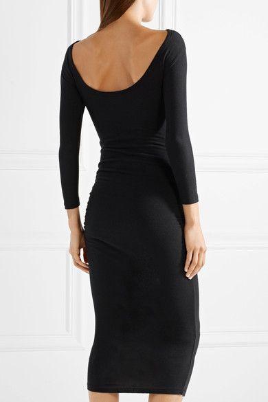 Black cotton-blend jersey Slips on 74% cotton, 20% polyester, 6% polyurethane Machine wash Imported