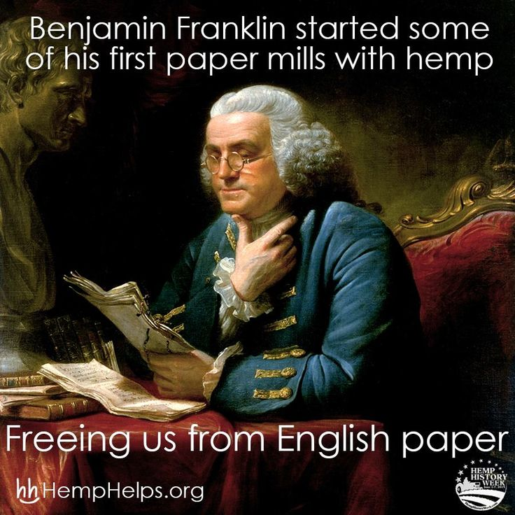 Happy Hemp History Week!! Benjamin Franklin knew what was up!! Help us spread the #Hemp movement by sharing this or other educational Hemp information.