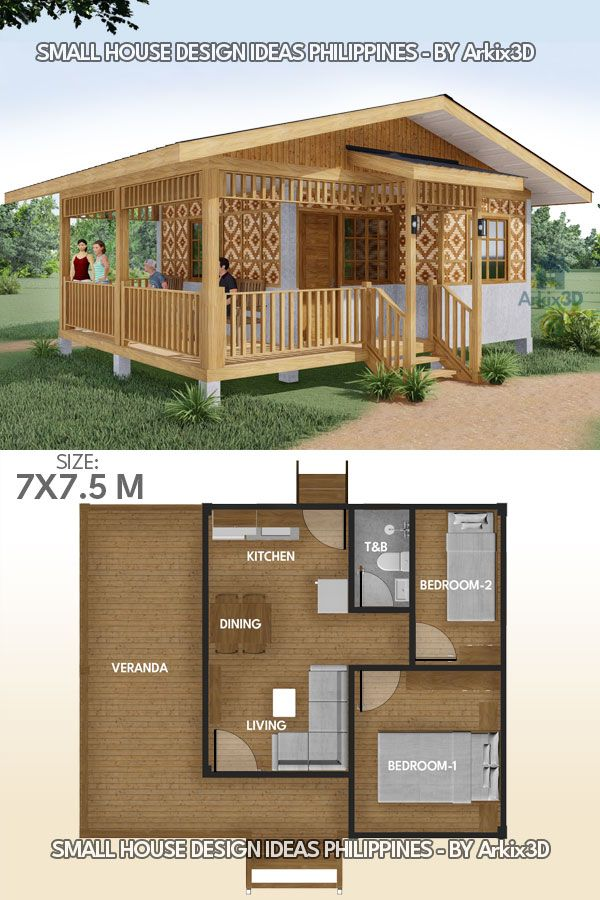 Small House Design Idea Half Amakan Small House Layout Small House Design House Construction Plan