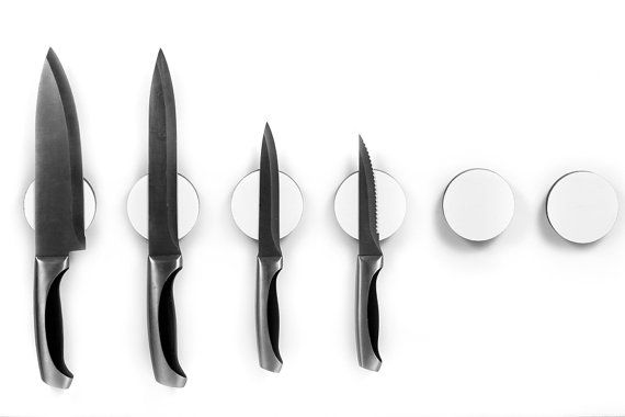 Magnetic Knife Disc a wall mounted Knife Rack