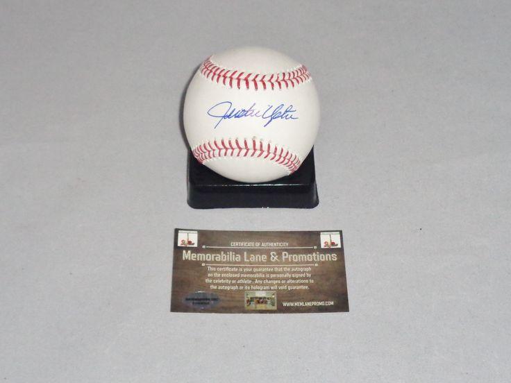 Justin Upton autographed baseball TIGERS BRAVES PADRES Memorabilia Lane