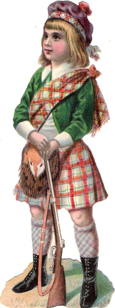 Oblaten Glanzbild scrap diecut chromo Kind child 17cm enfant Jagd hunting: