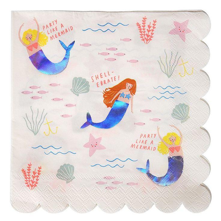 Let's Be Mermaids Large Napkin