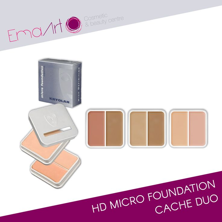 HD Micro Foundation Cache Duo is a special foundation, created with finest, micronized pigments, that delivers an exceptional perfect make-up and also has excellent covering power. The Duo packaging caries two distinct colors. HD Micro Foundation Cache allows corrective make-up application; designated skin areas can be effectively covered. Although this foundation has excellent covering properties, it still appears natural and meets the requirements for high definition images. ECARF…