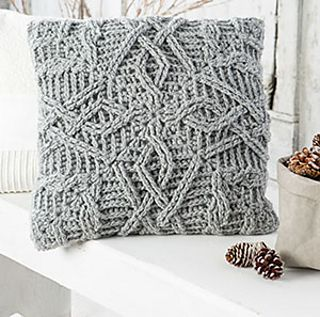 Braided Glory throw pillow by NTmaglia, worked with Drops Alaska