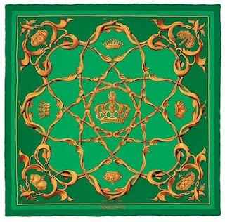 Absolutely stunning Hermes silk scarf.