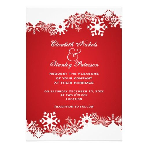 310 Best Winter Snowflake Wedding Invitations Images On