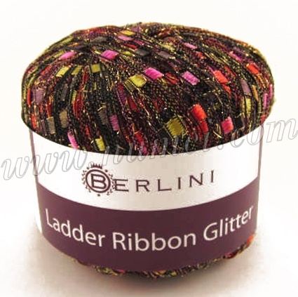 Glitter  Ladder ribbon yarn with a touch of glitz and glamour  	Patterns featuring this yarn    Ladder Ribbon Glitter is a delightful ladder ribbon yarn