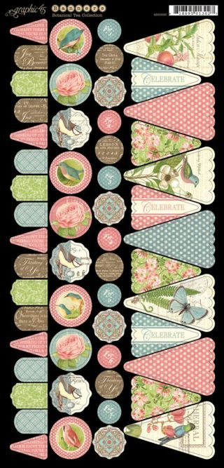Cardstock Banners 1 from our new collection, Botanical Tea! In stores in early February #graphic45 #newcollections
