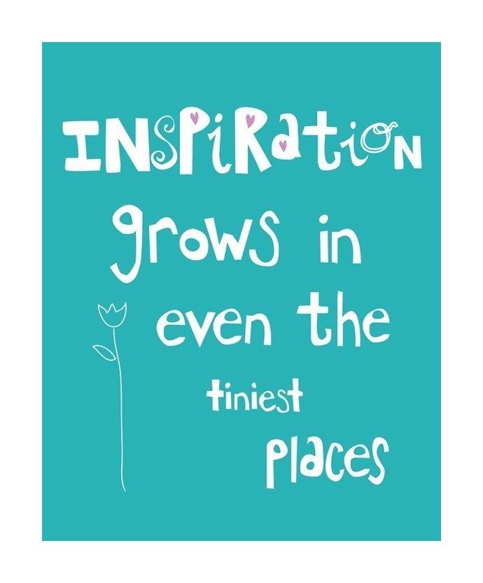 .Inspiratie is overal om je heen!