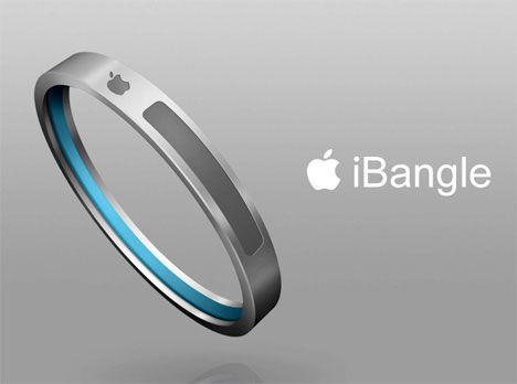 I Bangle - fuses iPod music tuner with thin aluminum bangle. It features music control buttons, a hold switch, a multi-control trackpad and an air chamber which will inflate to fit your wrist.  It also includes wireless earphone.