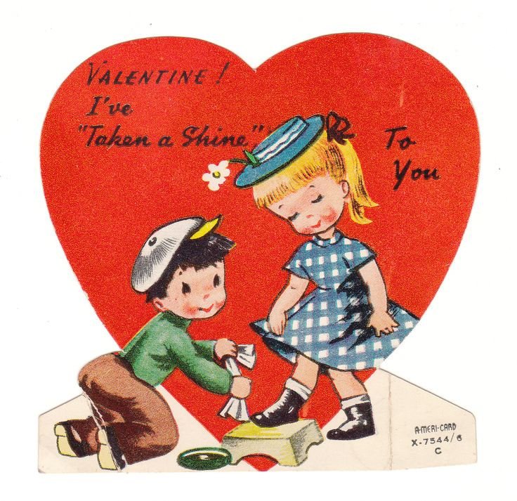 press vintage book valentines out