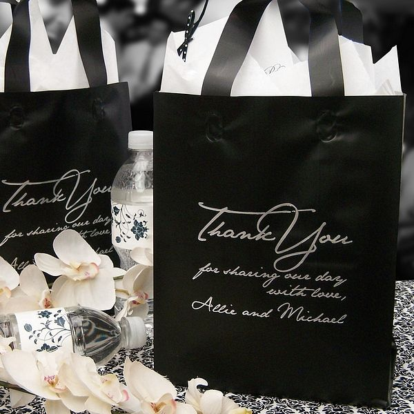 8 X 10 Personalized Frosted Wedding Thank You Bags Set Of 25