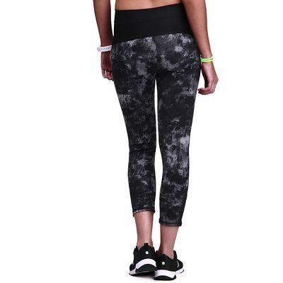 Pantaloni Abbigliamento - Leggings 7/8 donna SHAPE+ neri DOMYOS - Parte bassa