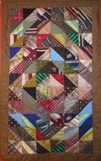 Memory Quilt.  An idea for what to do with all those inherited ties from Grandpa