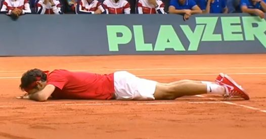 Roger Federer and Switzerland winning the Davis Cup 2014