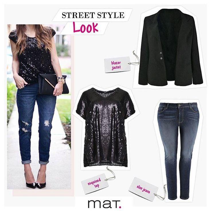 Το street style των fashionistas μας δίνει ιδέες για να απογειώσουμε την fashionable μαύρη μπλούζα με παγιέτες, σε glam rock style! Συνδύασέ τη με αγαπημένο slim παντελόνι τζιν και classy μαύρο blazer, για cool απογευματινά looks! Αγόρασε την μπλούζα [code: 661.1395.T] Αγόρασε το παντελόνι [code: 663.2333.Μ]  Αγόρασε το σακάκι [code: 661.4090]  #matfashion #realsize #glamrock #instafashion #streetstyle #psblogger #plussize #curvyfashion