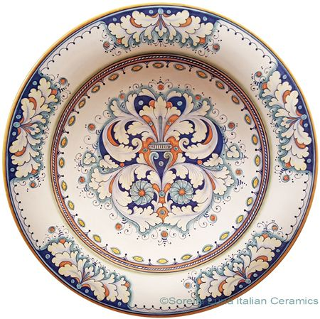Ceramic Majolica Plate - Dec 198 50cm ~ I loved this so much, it's mine!