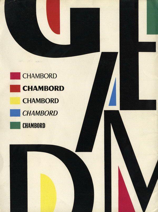 Excoffon Chambord catalogue
