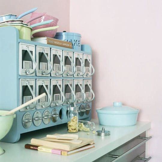 We are so smitten by this baby blue Scandinavian storage cabinet. We spotted it over at Living Etc., and after some sleuthing discovered its source.